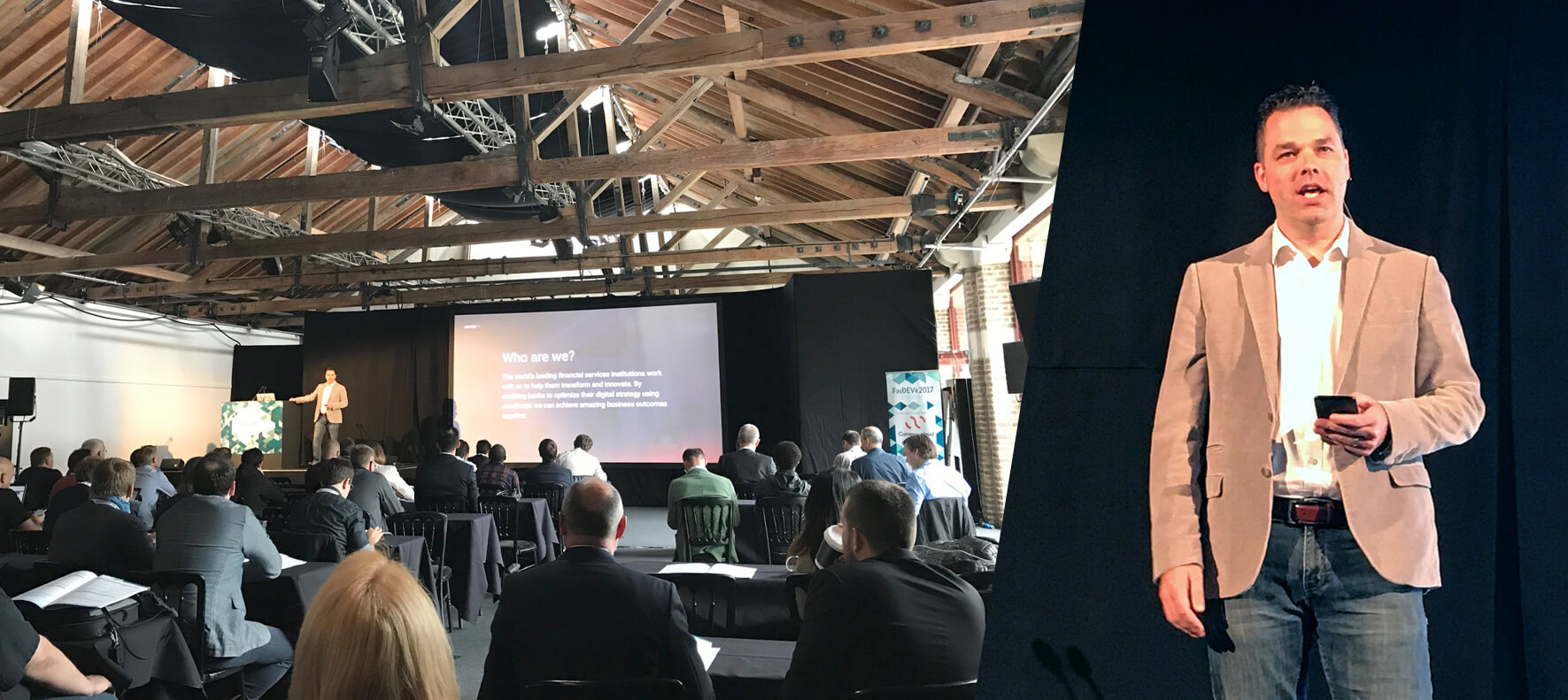 Doug Riches presenting at FinDEVr London 2017
