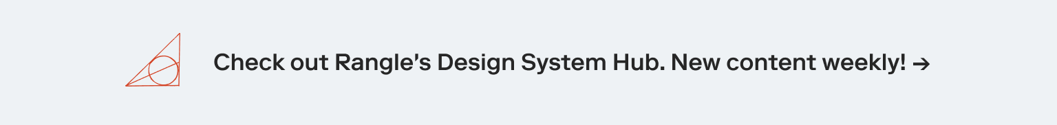 Rangle Design System Hub Banner