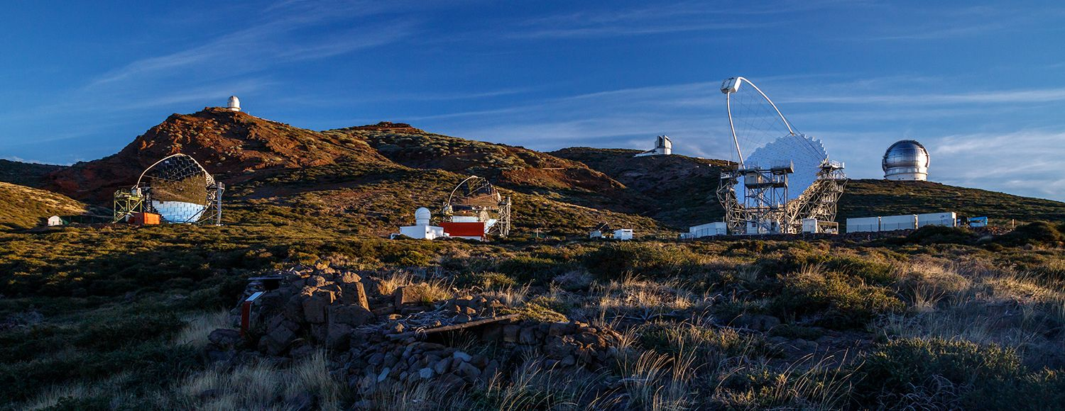 Astronomical observatories of the Roque de los Muchachos Observatory in La Palma Spain