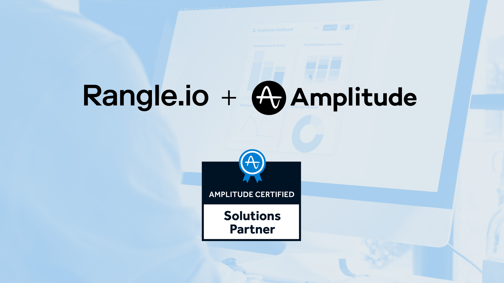 Header image, Rangle and Amplitude Partnership Annoucement