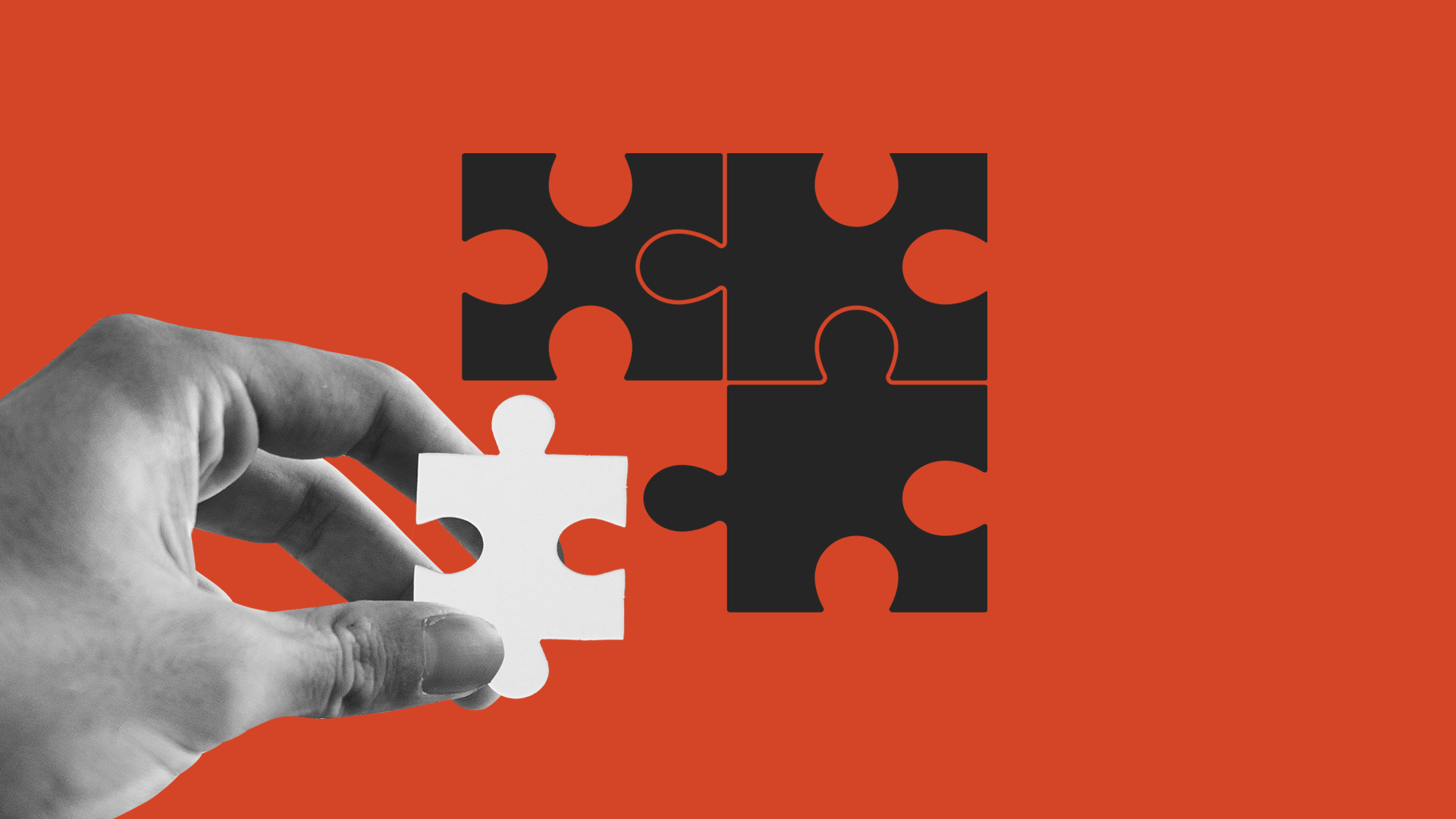 illustration of puzzle pieces fitting together